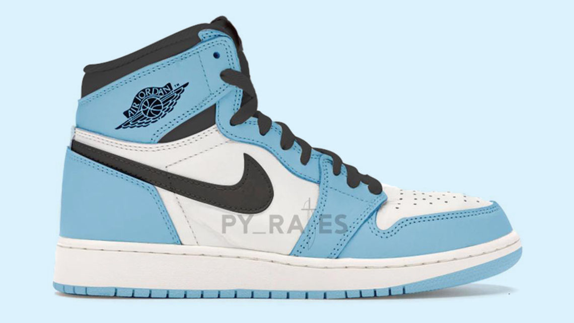 air jordan 1 blue and white high