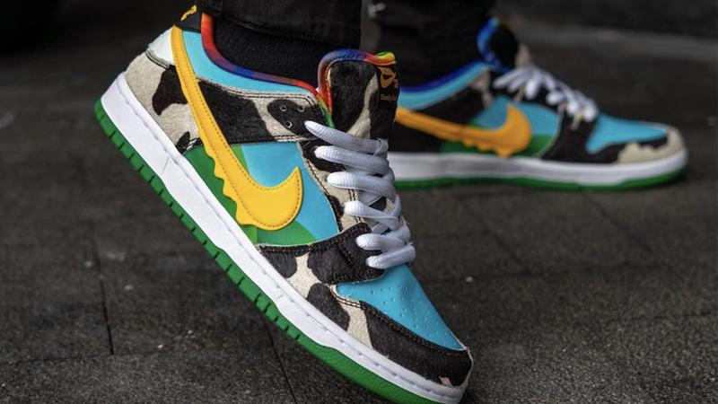 Ben & Jerry x Nike SB Dunk Low Chunky Dunky On Foot Closeup