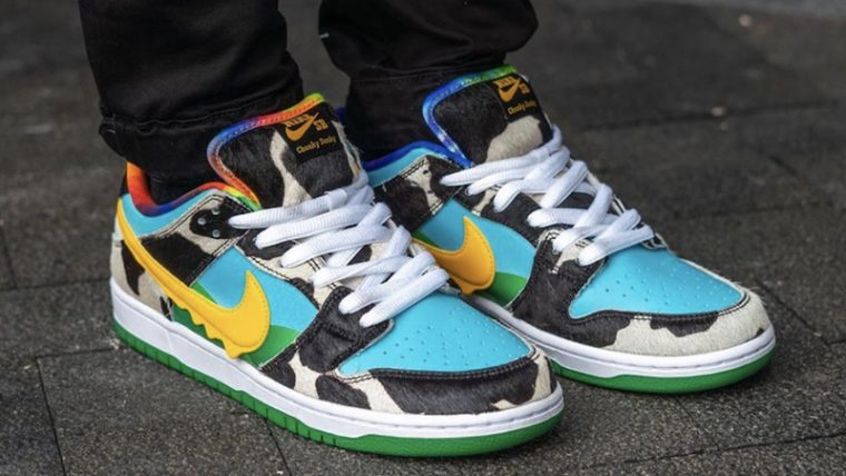 Ben & Jerry x Nike SB Dunk Low Chunky Dunky On Foot Front thumbnail image