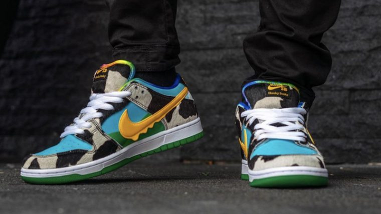 Ben & Jerry x Nike SB Dunk Low Chunky Dunky On Foot Front Side thumbnail image