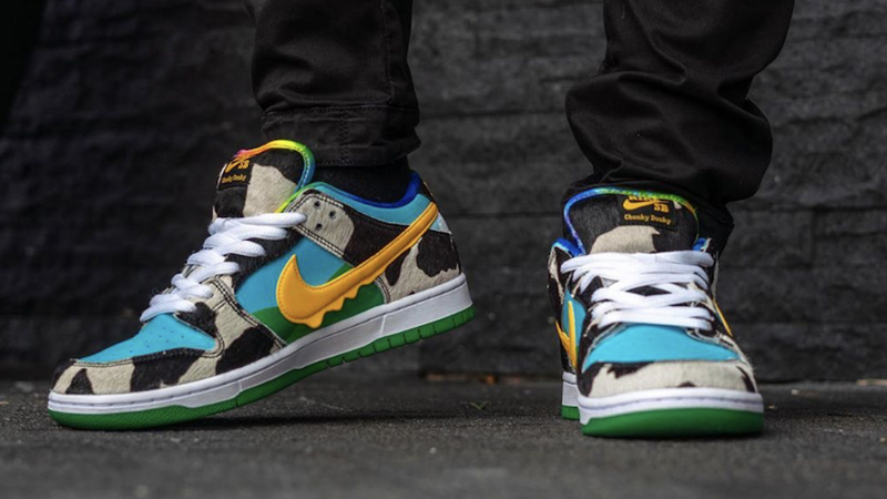 Ben & Jerry x Nike SB Dunk Low Chunky Dunky On Foot Front Side