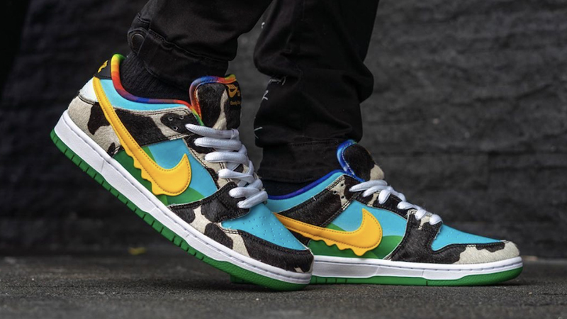 Ben & Jerry x Nike SB Dunk Low Chunky Dunky On Foot Side
