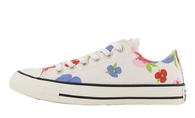 Converse All Star Low White Multi Egret Floral