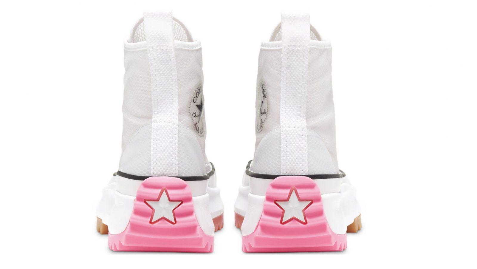 Converse Heat Run Star Hike White Electric Blush Heel