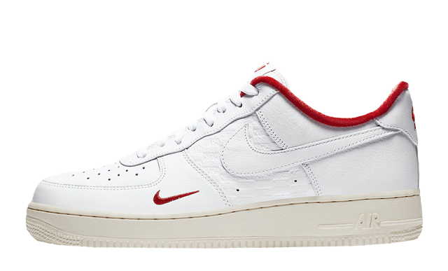 KITH x Nike Air Force 1 Low White University Red