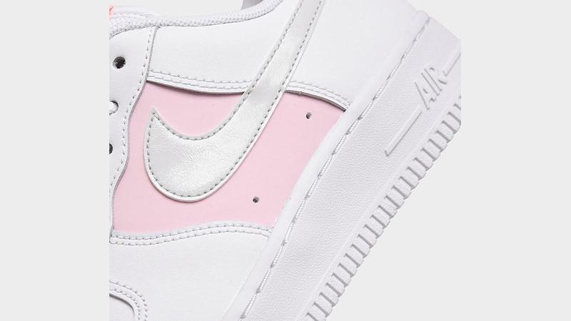 Nike Air Force 1 07 Premium White Pink Foam Closeup