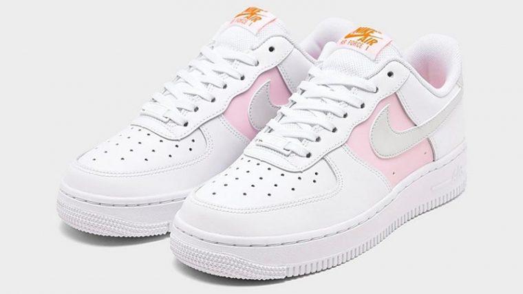 Nike Air Force 1 07 Premium White Pink Foam Front thumbnail image