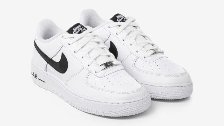 Nike Air Force 1 GS White Black Front thumbnail image