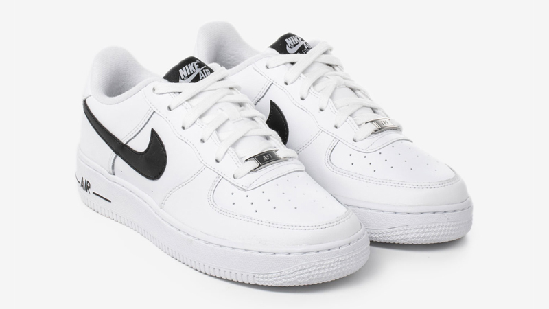 Nike Air Force 1 GS White Black Front