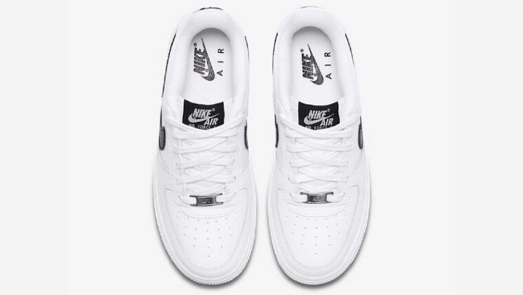 Nike Air Force 1 GS White Black Middle thumbnail image