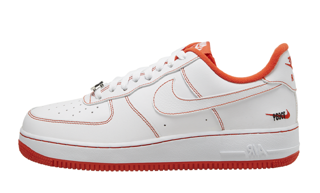 Nike Air Force 1 Low Rucker Park White Orange