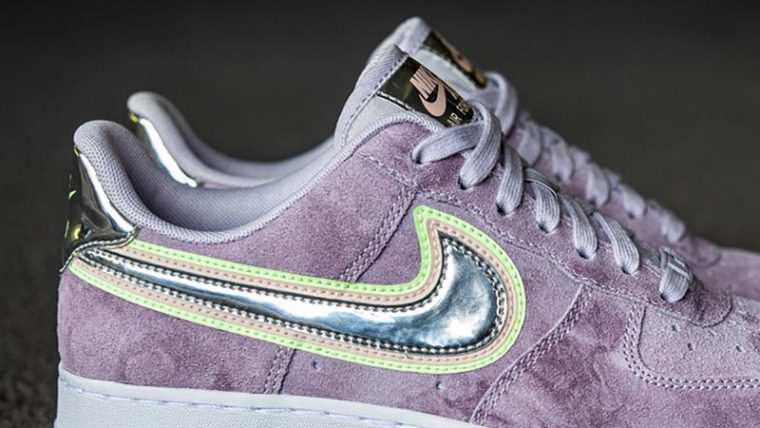 Nike Air Force 1 P(HER)SPECTIVE Purple Back Closeup thumbnail image