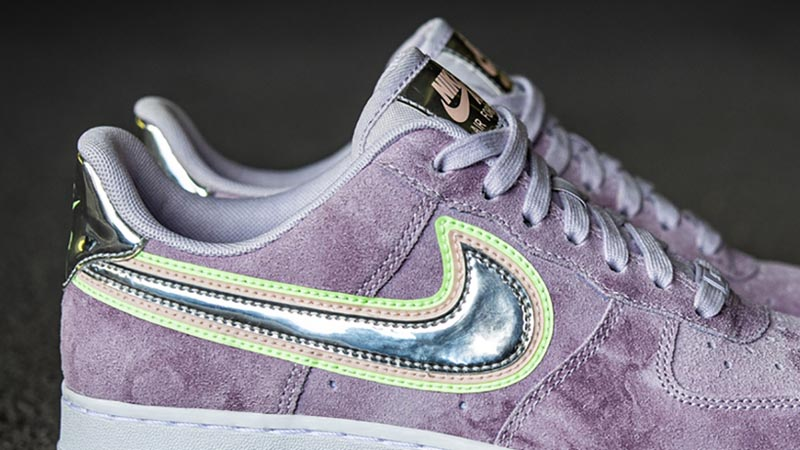 Nike Air Force 1 P(HER)SPECTIVE Purple Back Closeup