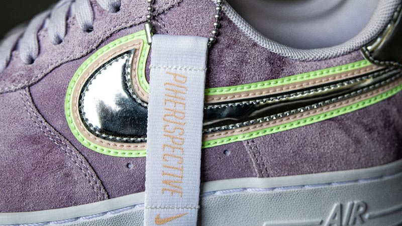 Nike Air Force 1 P(HER)SPECTIVE Purple Closeup