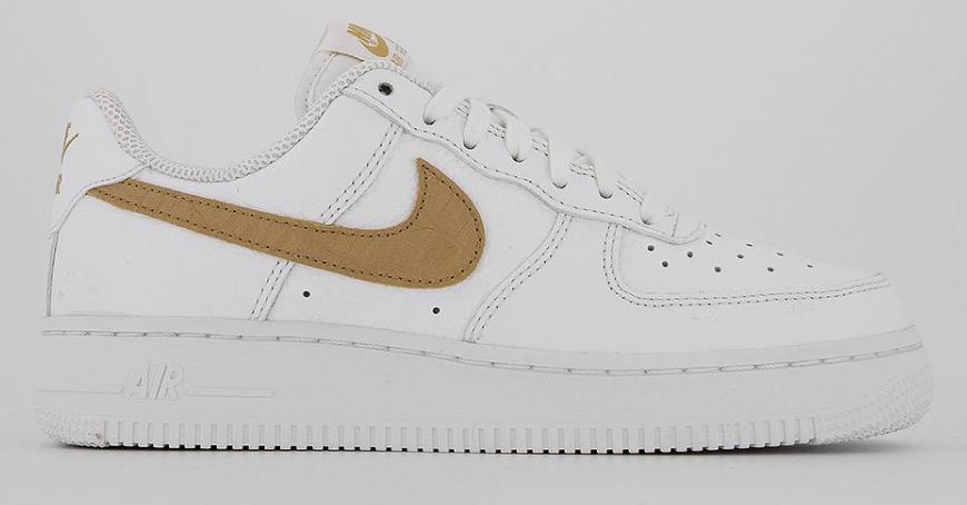 Nike Air Force 1 White Club Gold