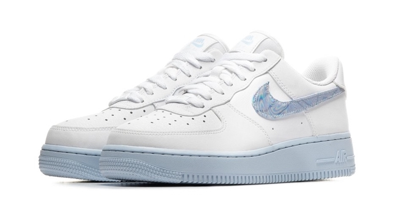 Nike Air Force 1 White Hydrogen Blue front