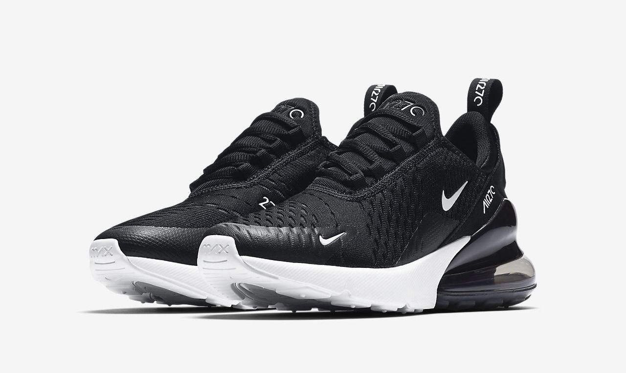 Nike Air Max 270 Black White front