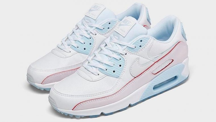 Nike Air Max 90 DIY Flare White Hydrogen Blue Front thumbnail image