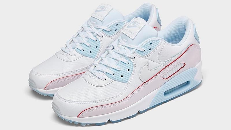 Nike Air Max 90 DIY Flare White Hydrogen Blue Front