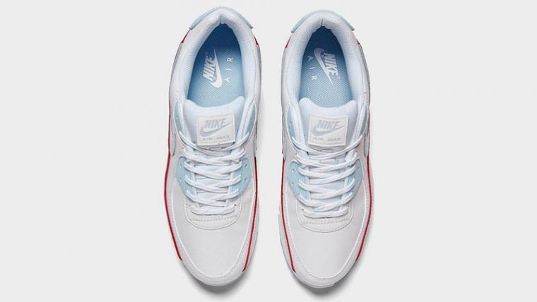 Nike Air Max 90 DIY Flare White Hydrogen Blue Middle thumbnail image