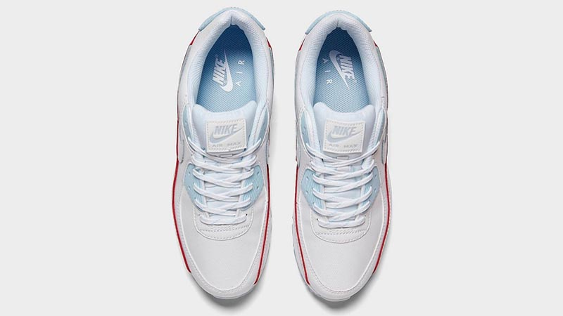 Nike Air Max 90 DIY Flare White Hydrogen Blue Middle