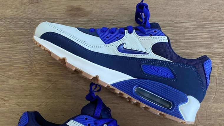 Nike Air Max 90 Home Away White Blue Side1 thumbnail image