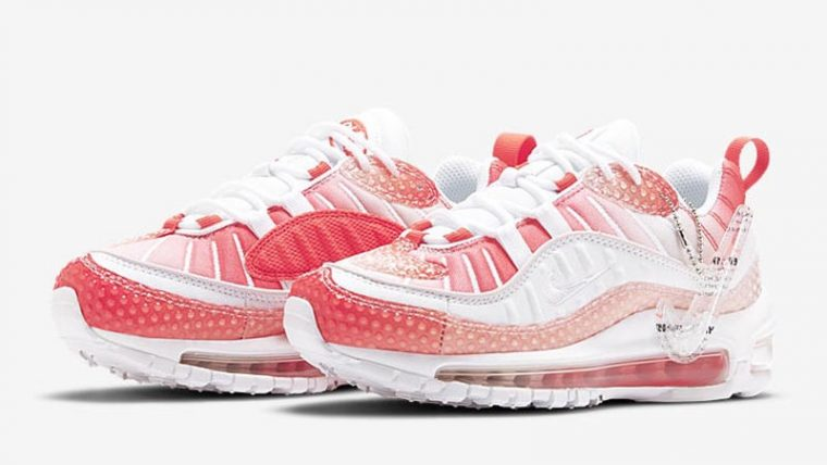 Nike Air Max 98 Bubble Pack Track Red Front thumbnail image