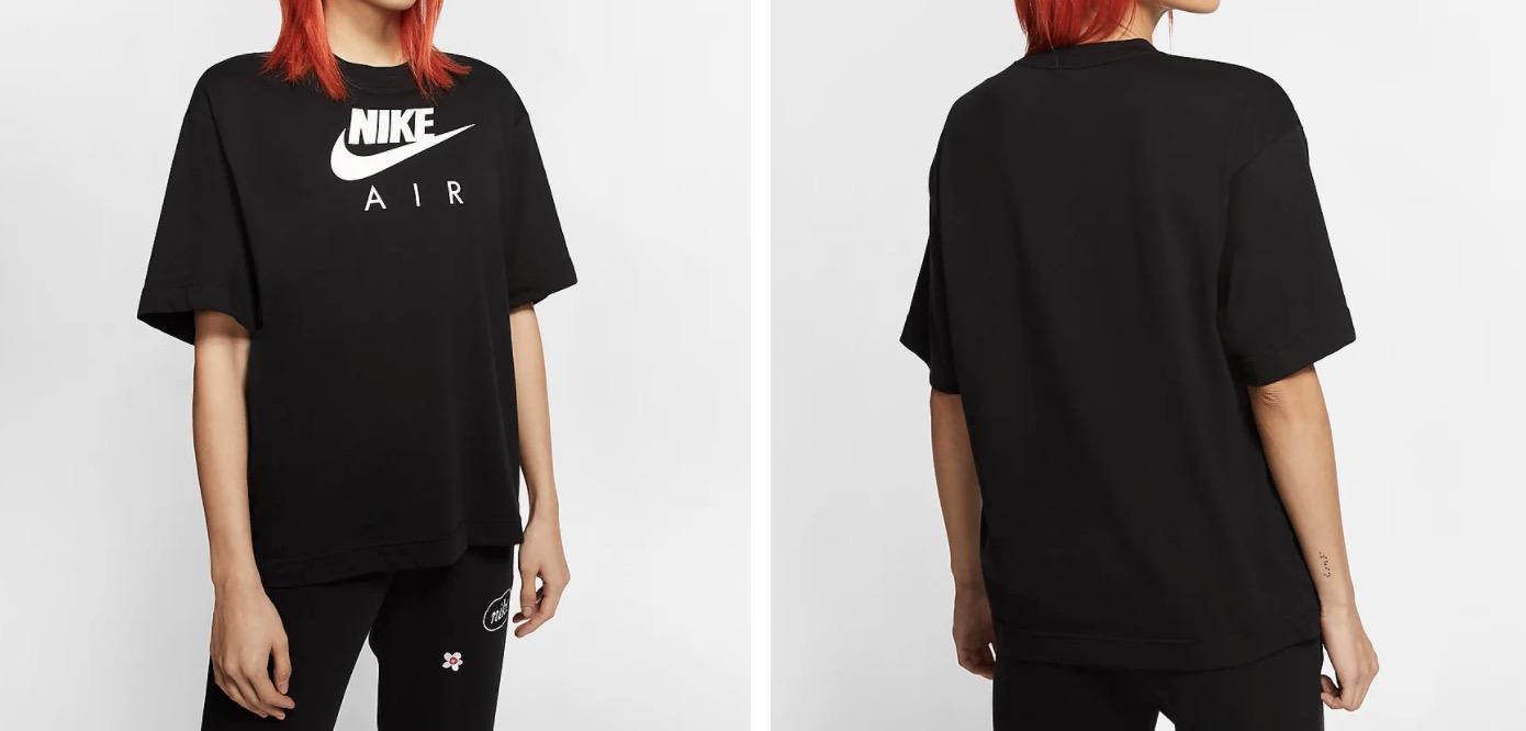 Nike Air Short Sleeve T Shirt Black