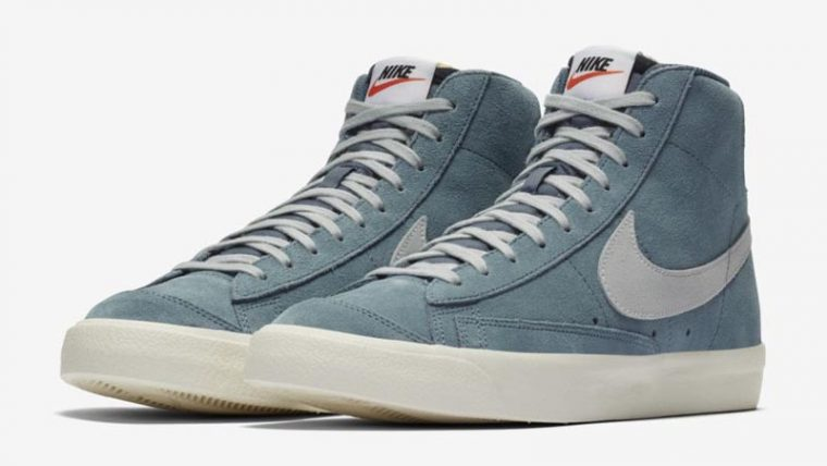 Nike Blazer Mid 77 Suede Blue Front thumbnail image