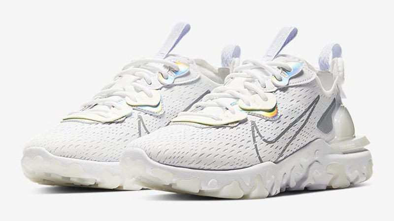 Nike React Vision White Particle Grey Front