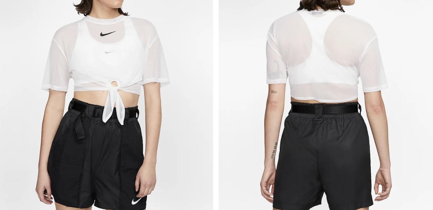 Nike Sportswear Crop T Shirt White