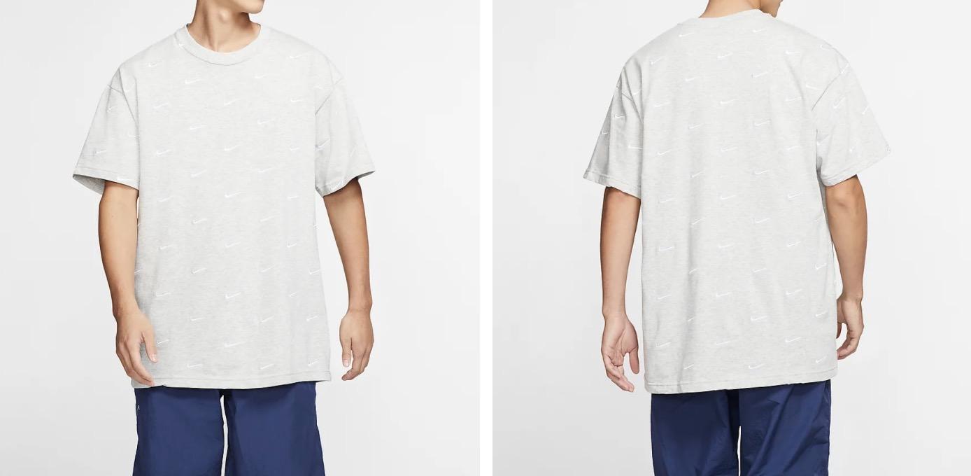 Nike Swoosh Logo T Shirt Grey