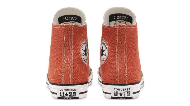 Renew Cotton x Converse Chuck Taylor All Star High Venetian Rust Back