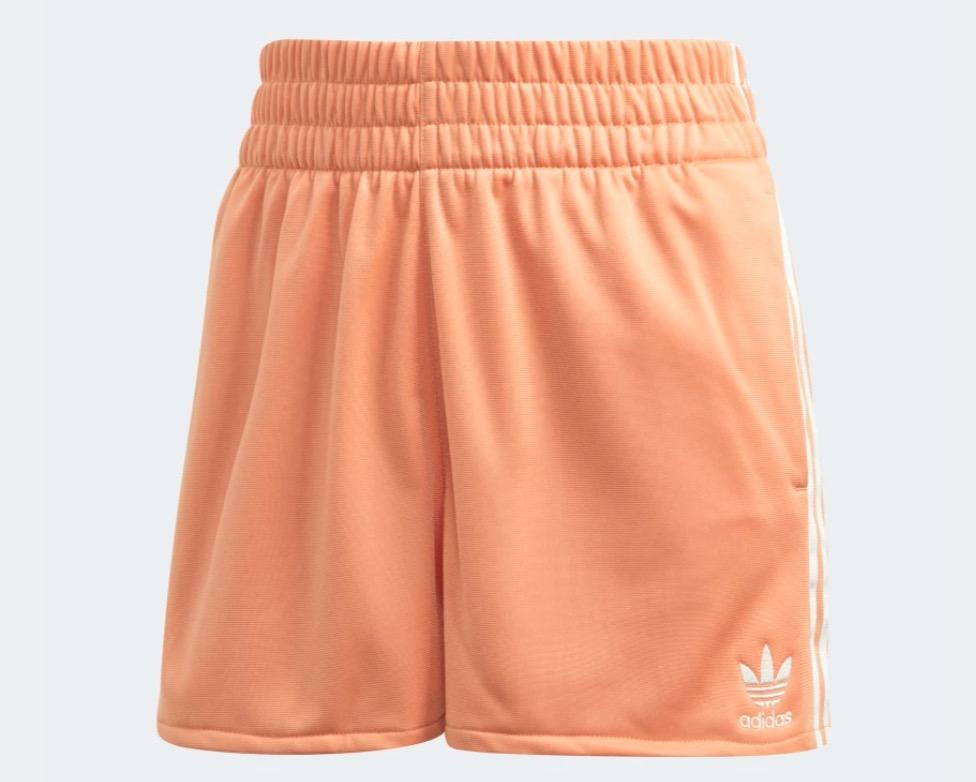 adidas 3-stripe shorts orange