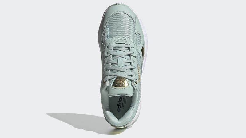 adidas Falcon Green Tint Gold Metallic Middle