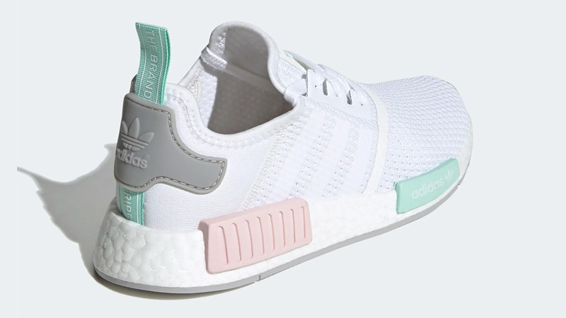 adidas NMD R1 Cloud White Clear Mint Back