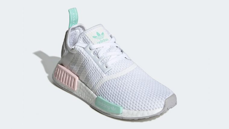 adidas NMD R1 Cloud White Clear Mint Front thumbnail image