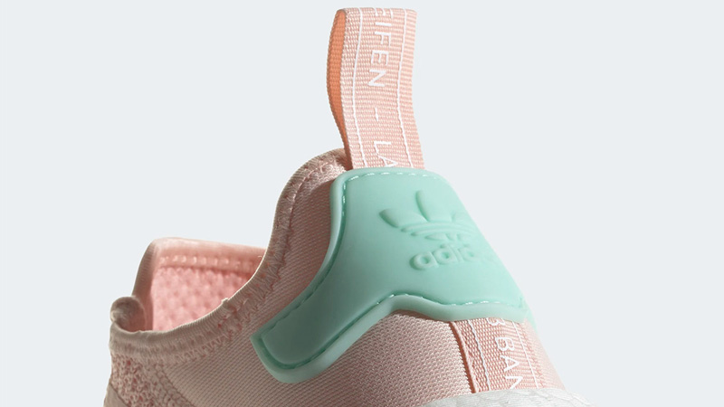 adidas NMD R1 Icey Pink Clear Mint Back Closeup
