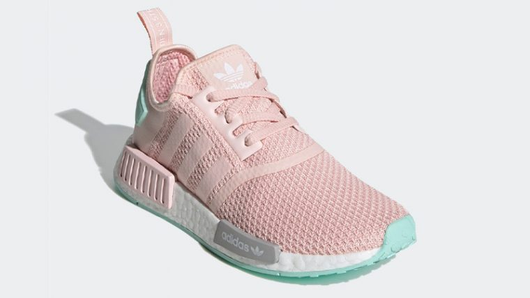 adidas NMD R1 Icey Pink Clear Mint Front thumbnail image