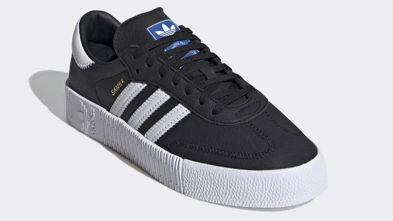 adidas Sambarose Core Black Bluebird Front