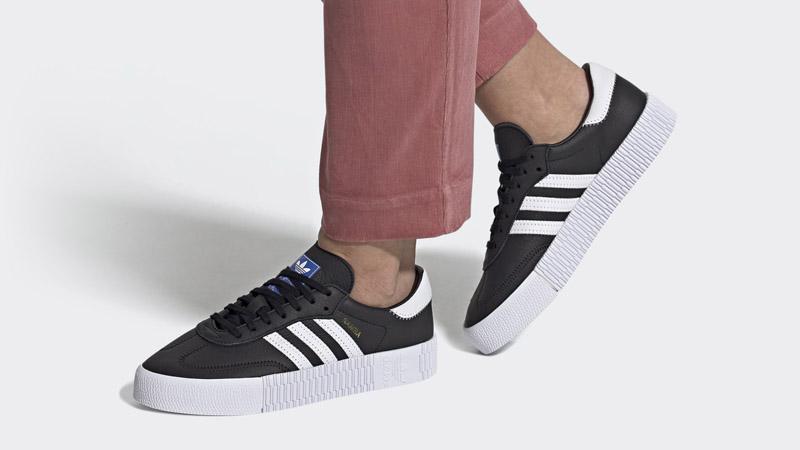 adidas Sambarose Core Black Bluebird On Foot