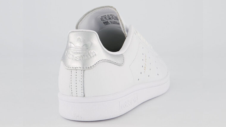 adidas Stan Smith White Silver Metallic Back thumbnail image