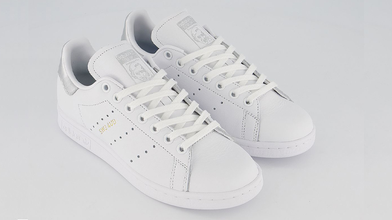 adidas Stan Smith White Silver Metallic Front