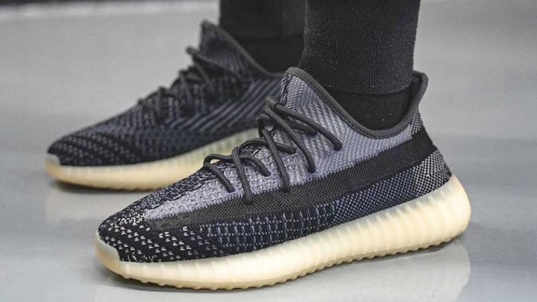 adidas Yeezy Boost 350 V2 Asriel On Foot Side thumbnail image
