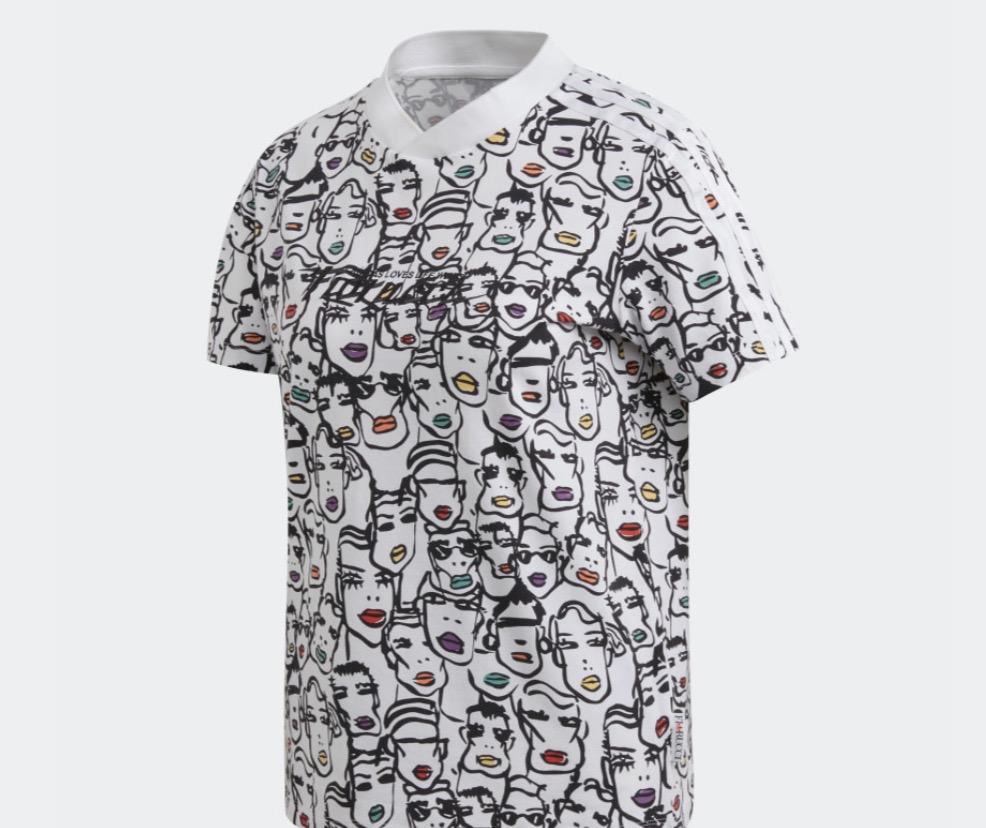 adidas x fiorucci graphic t-shirt.