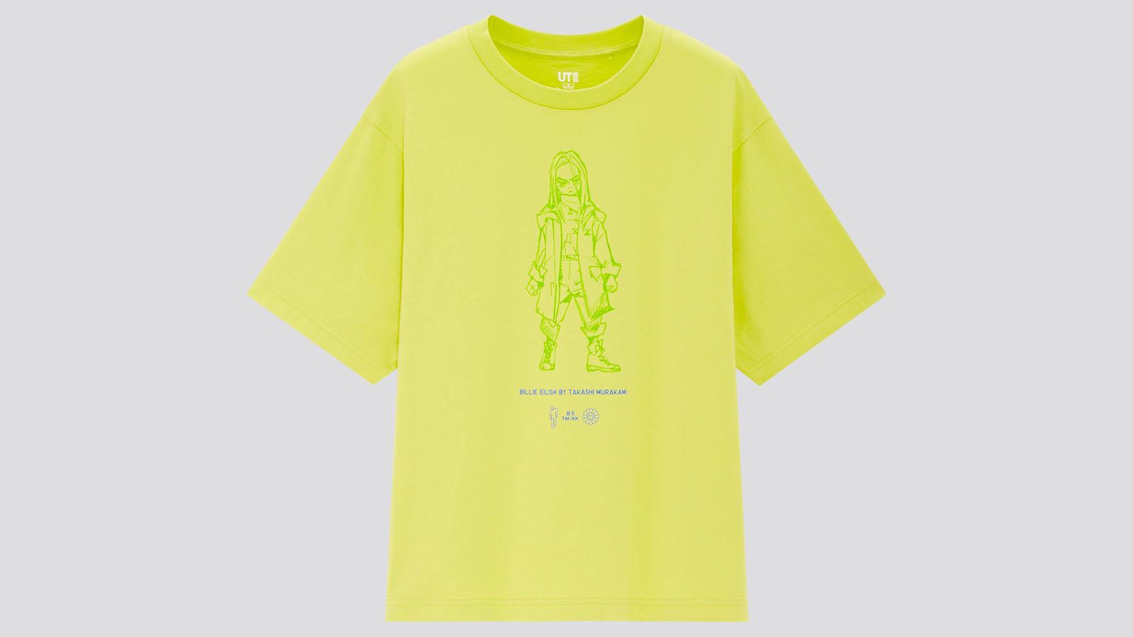 billie eilish uniqlo neon yellow