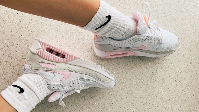 Nike Air Max 90 White Pink Silver