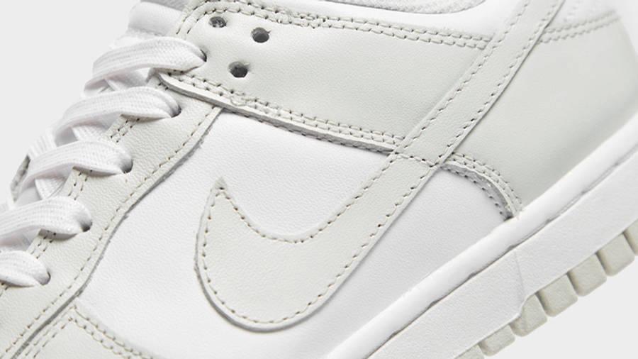 Nike Dunk Low Photon Dust Grey Closeup