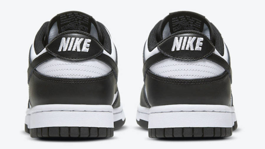 Nike Dunk Low Retro White Black Back