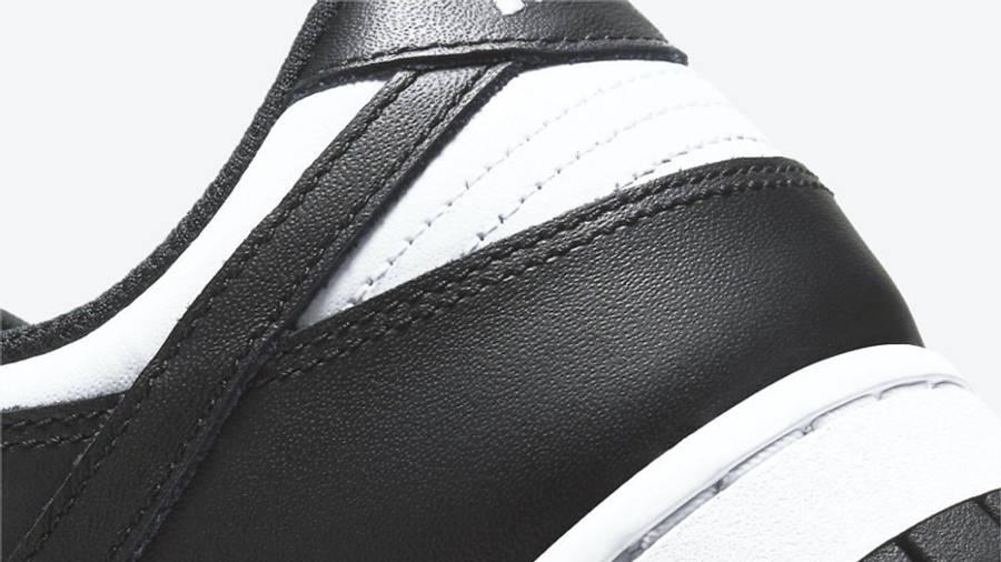 Nike Dunk Low Retro White Black Closeup
